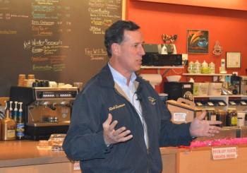 "Rick Santorum Tests Out ""Blue Collar Conservative"" Appeal"