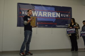 RWR organizer Adam Beaves goes over tactics. Beaves has years of solid Iowa campaign experience