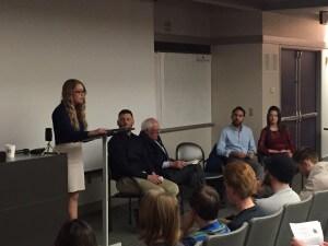 University of Iowa Students speak before introducing Sanders