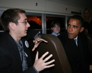 Me with Barack Obama in 2007. Unsure if he looks intrigued or annoyed by what I'm saying