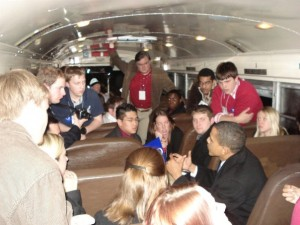 Barack Obama speaks to college students in 2007.