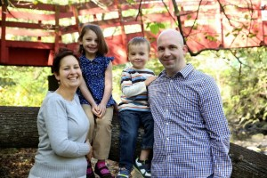 The Matson family - Heather, Emma, Henry and Chris