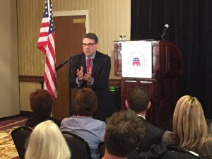 Perry engages with the Dallas County crowd