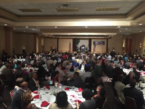 A crowd of over 300 turned out for O'Malley
