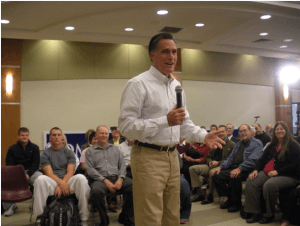 Mitt Romney telling Sioux City he would be in Iowa again and again... he lied