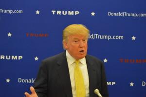 Trump speaks to press before his speech