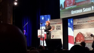 Sarah Palin speaking at the Freedom Summit back in January