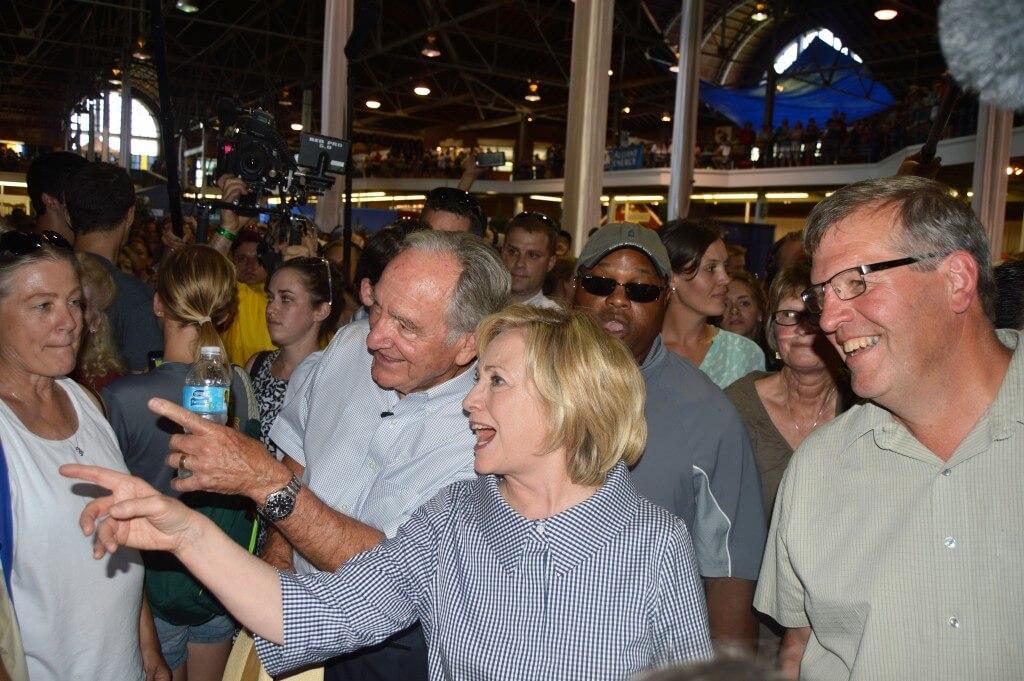 Hillary Clinton Tom Harkin State Fair