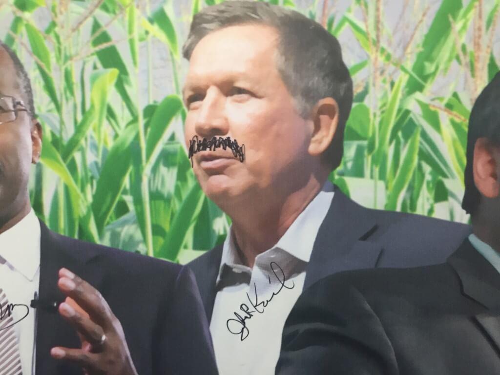 John Kasich mustache State Fair