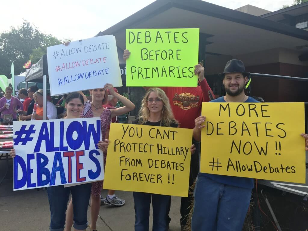 State Fair Debate Protests 1
