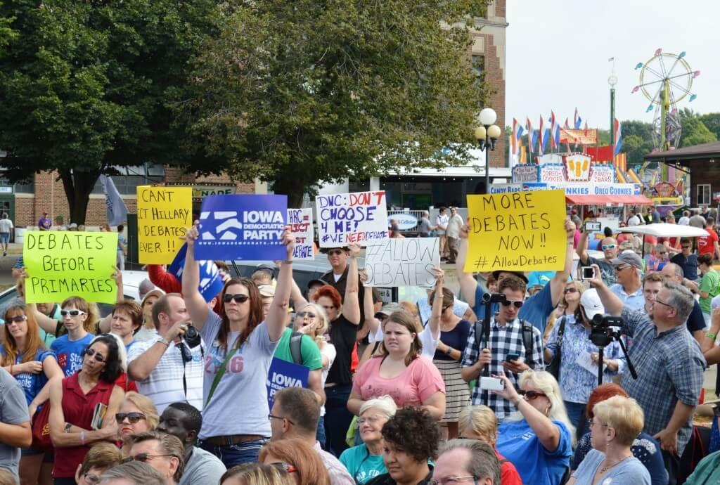 State Fair Debate Protests 2