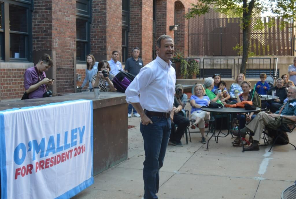 O'Malley at a Des Moines event