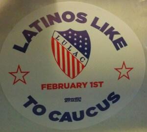 Latino caucus sticker