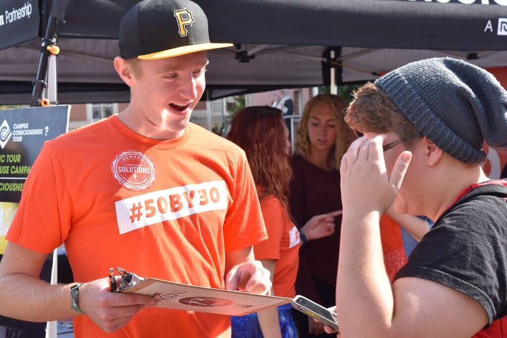Students sign up for climate activism