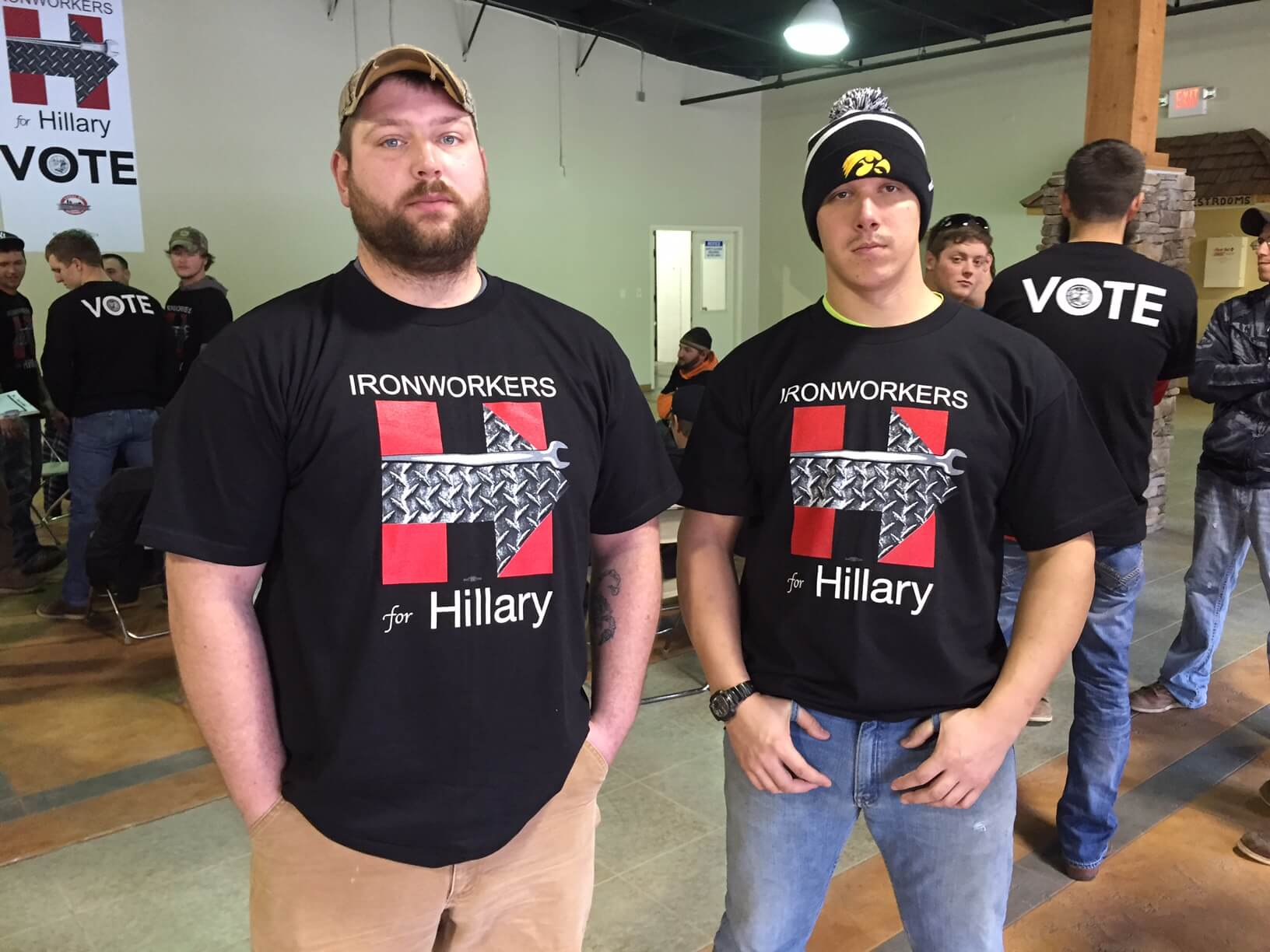 Ironworkers for Hillary shirts