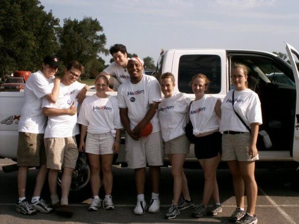 The Kerry team, summer 2003