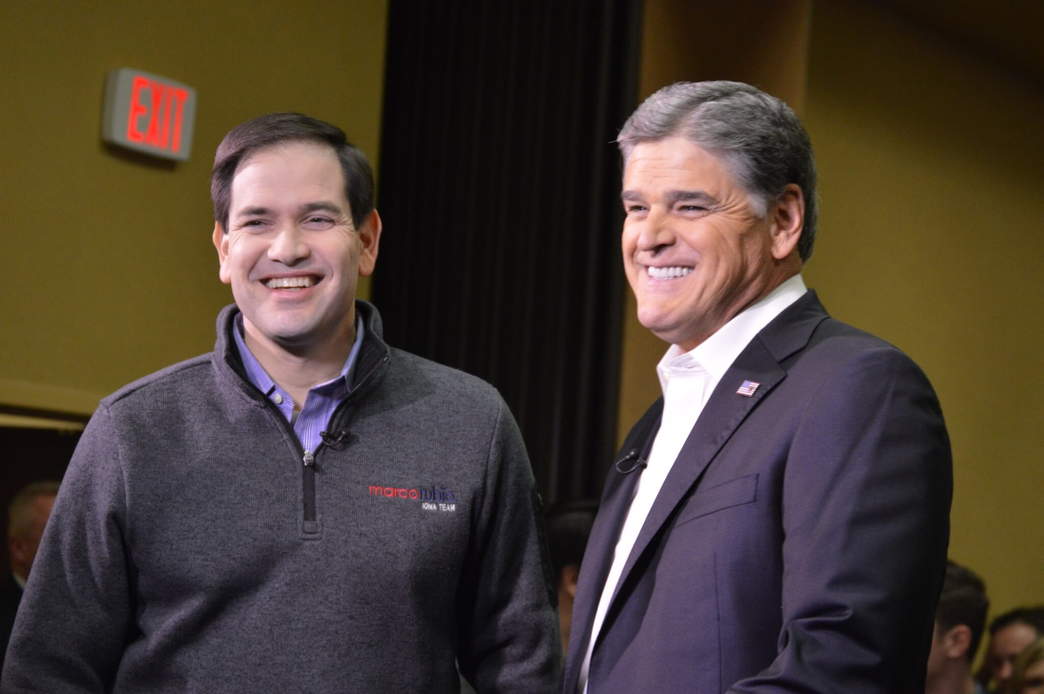 Rubio with Sean Hannity before his event