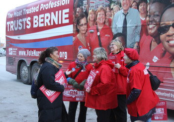 Nurses Boosting Bernie In Caucus For Real Change On Healthcare