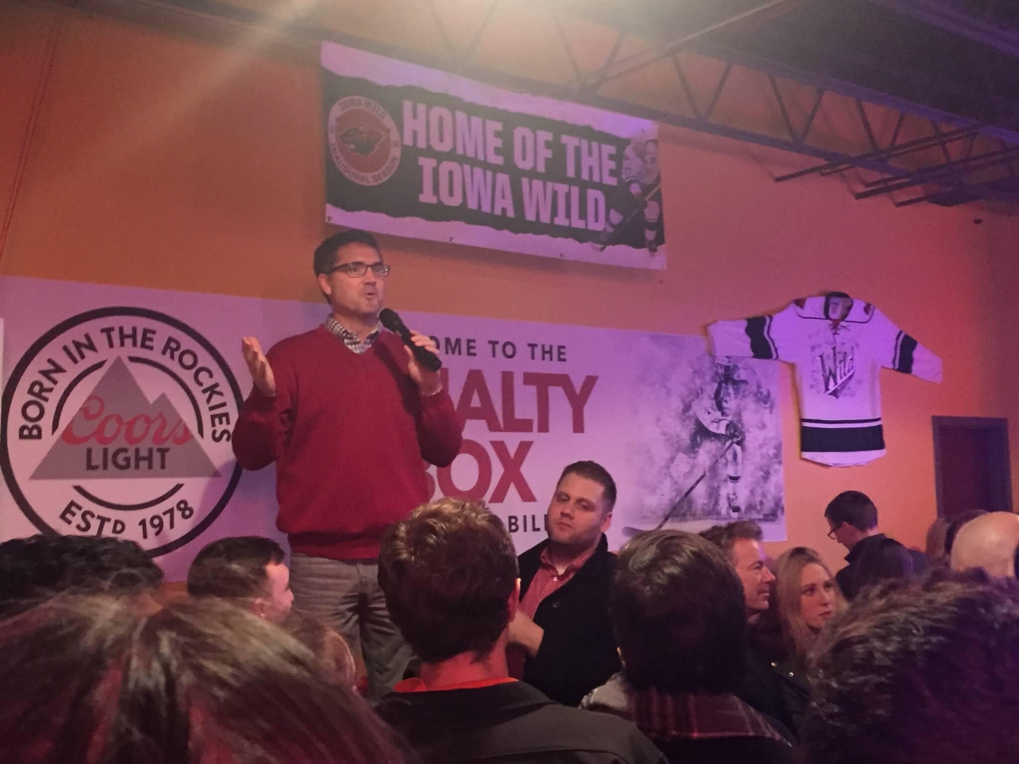 Steve Grubbs talks up Paul's Iowa organization