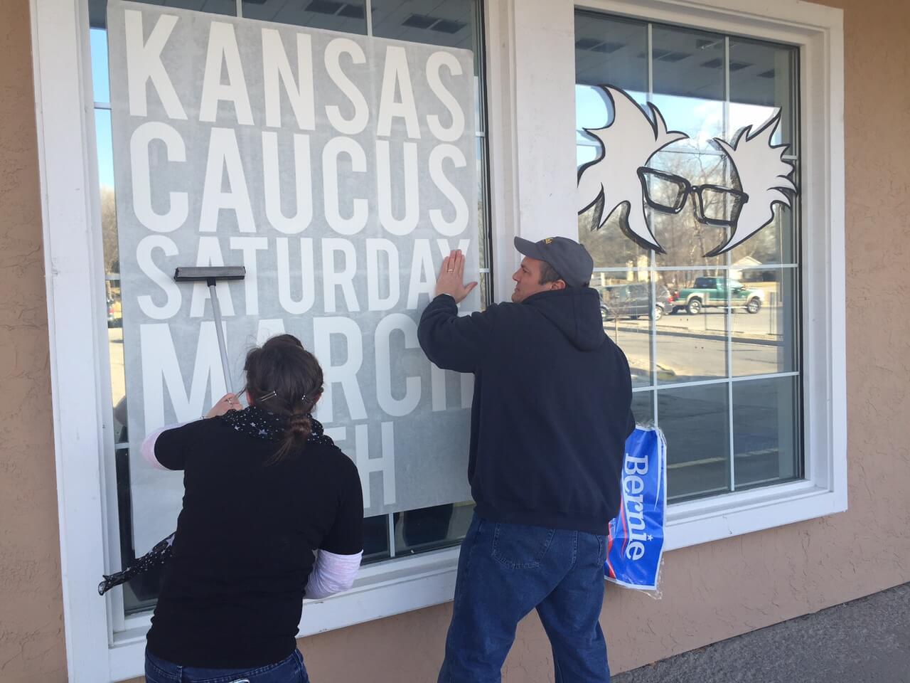 Decorating the Sanders' Shawnee, KS office