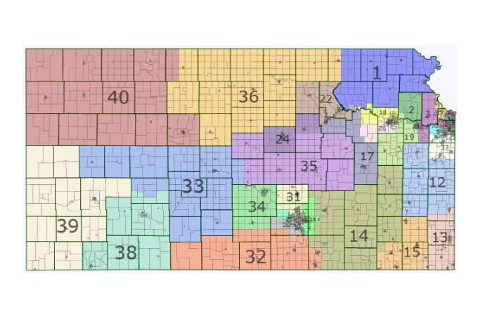 Kansas Caucus How The Heck Do You Organize A County Caucus - Map of us senate districts in kansas
