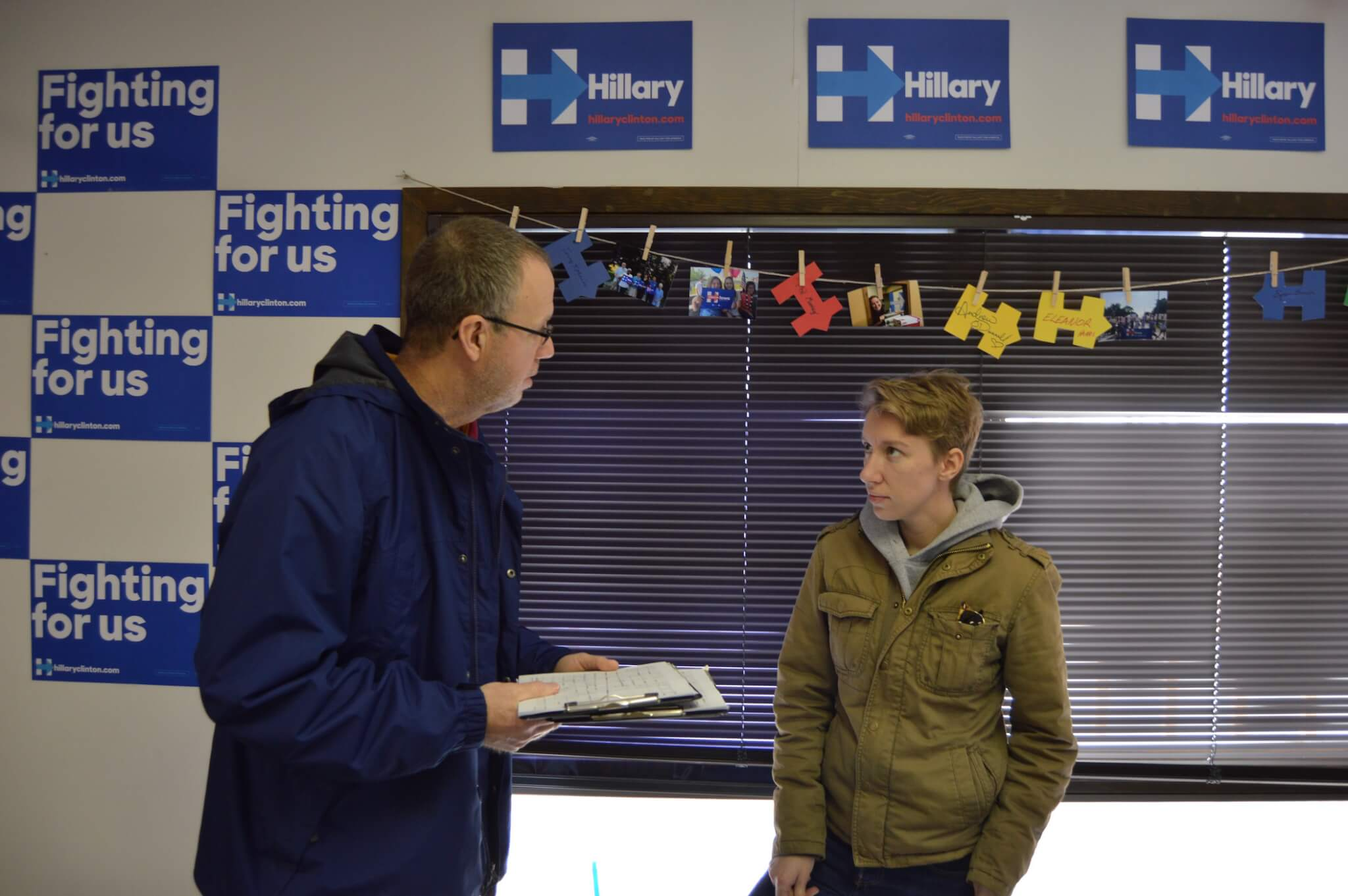 Former Clinton Iowa staff train Nebraska volunteers