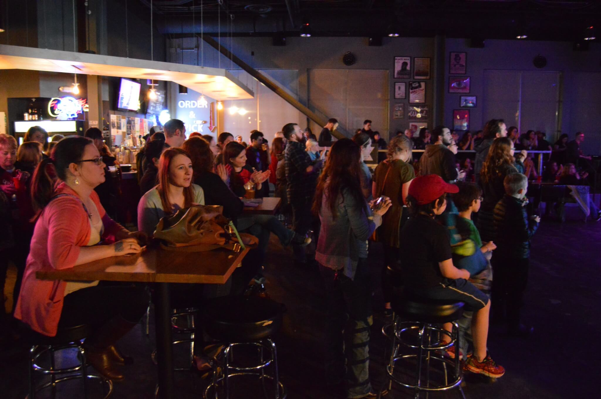 A Battle of the Bands for Bernie event in Lincoln, organized by the grassroots group