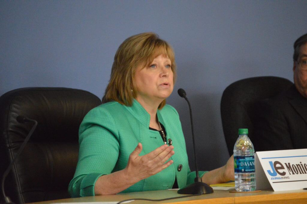 Monica Vernon at the 1st District Debate