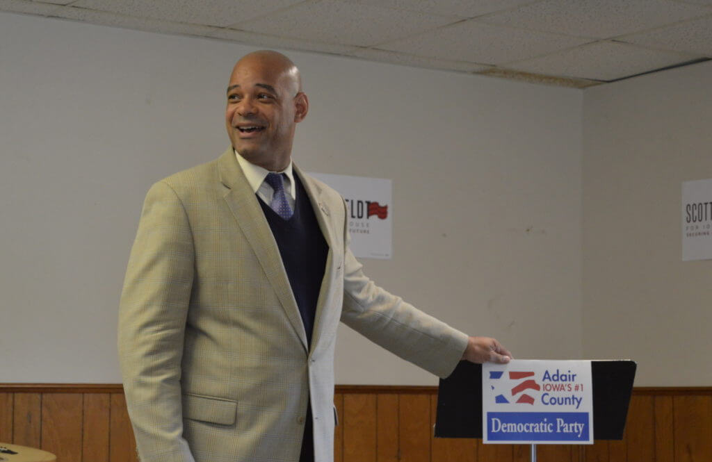 Adams addresses the Adair County Democrats