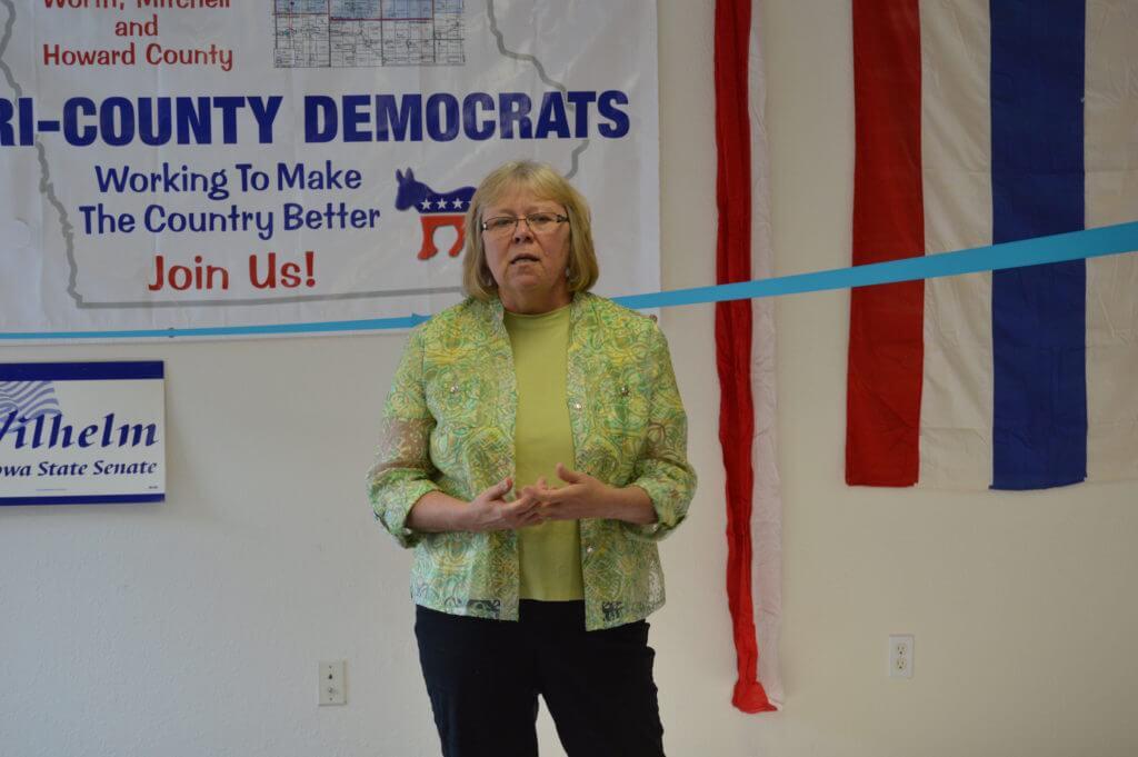 Senator Mary Jo Wilhelm speaks