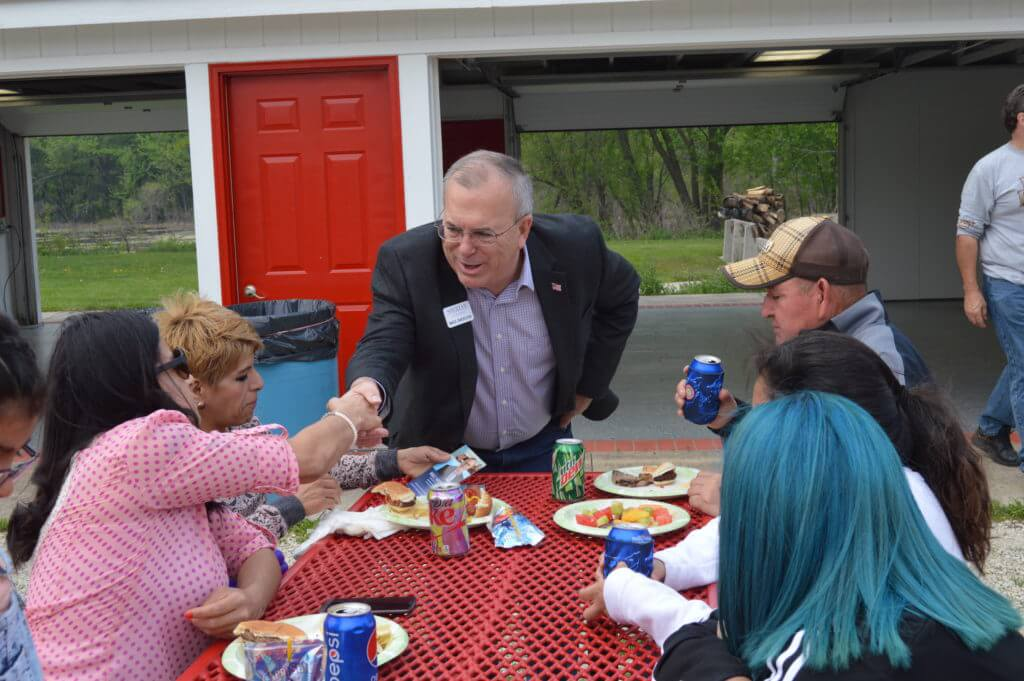 Meeting voters at the IBEW picnic