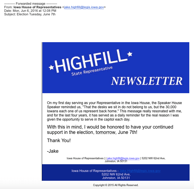 Jake Highfill email