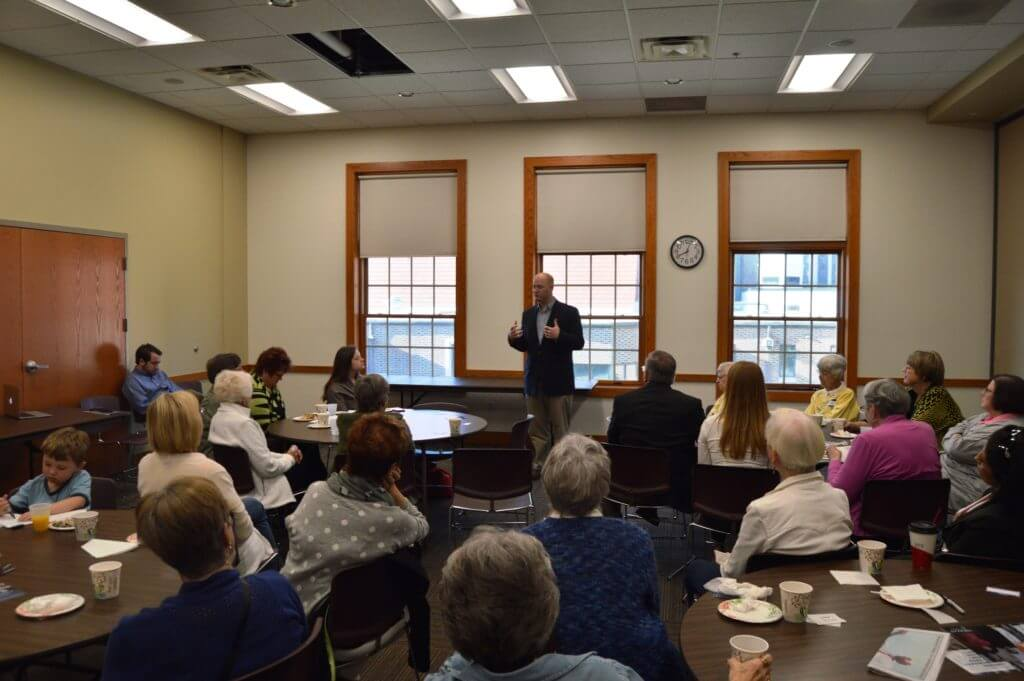 Mowrer pitches his campaign