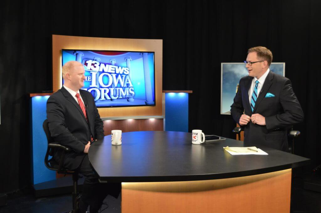 Mowrer with Dave Price at WHO