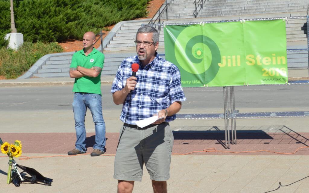 David Courard-Hauri, a leader in Iowa's Green Party