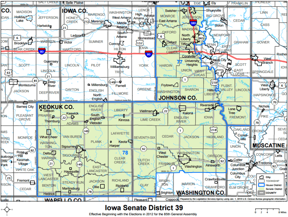 What The Iowa Senate Map Looks Like In Iowa Starting Line - State of iowa map