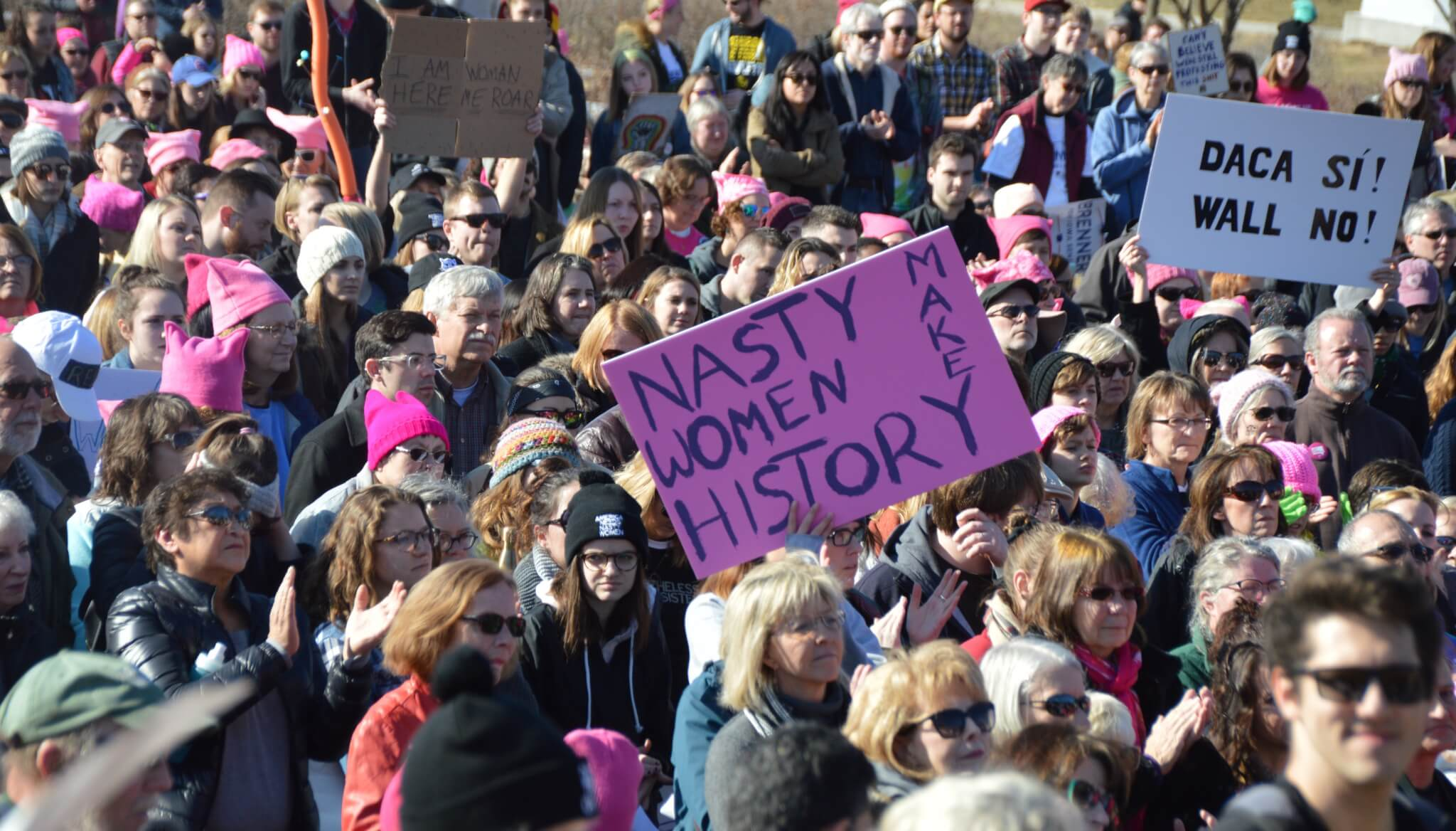 Iowa women defiant at women 39 s march the speeches sights Family planning com
