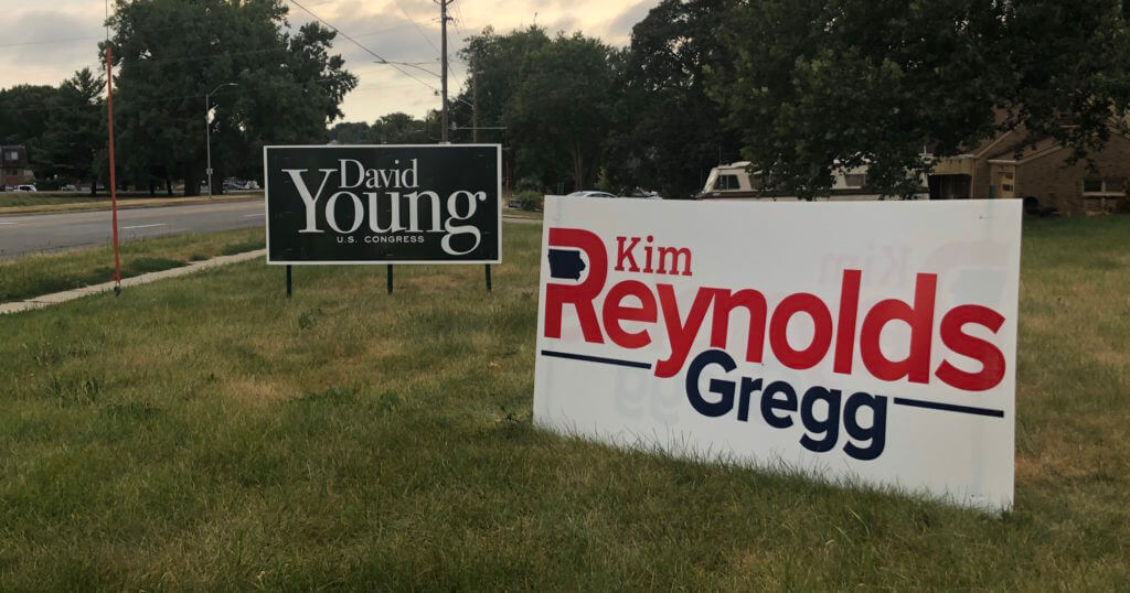 The Battle For Political Yard Signs Iowa Starting Line