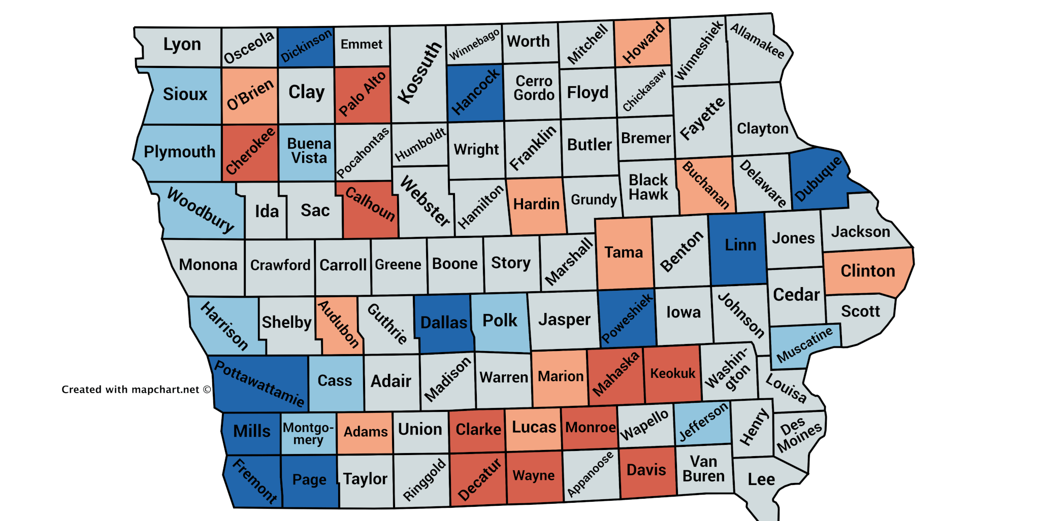 Iowa County Iowa Map.Which Iowa Counties Are And Aren T Turning Out Big For 2018 Iowa