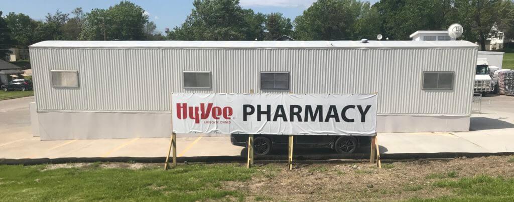Mt. Ayr's HyVee Pharmacy trailer